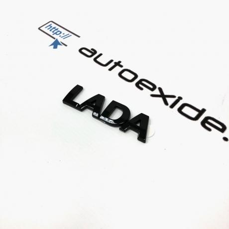 """Купить шильдик (орнамент) """"LADA"""" на крышку багажника черный лак (глянец)"""